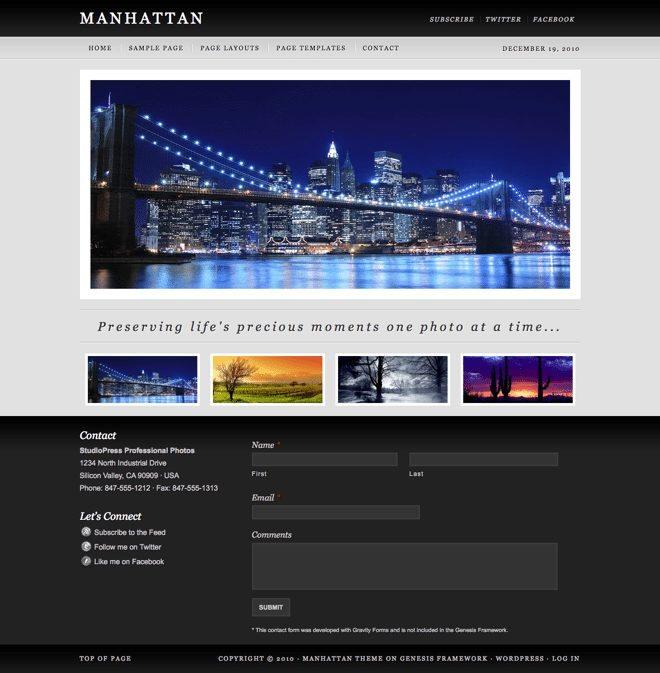 Manhattan ~ Genesis WordPress sablon
