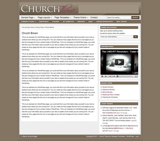 Church ~ Genesis WordPress sablon barna
