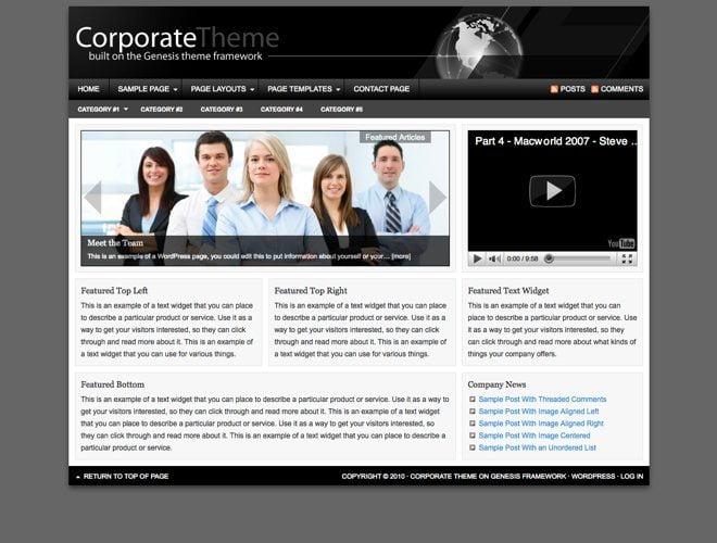Corporate ~ Genesis WordPress sablon
