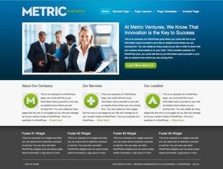 Metric ~ Genesis WordPress sablon