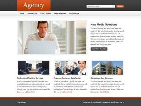 Agency ~ Genesis WordPress sablon