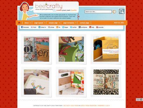 Bee Crafty ~ Genesis WordPress sablon