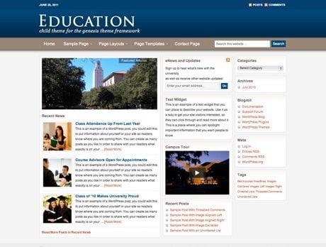 Education ~ Genesis WordPress sablon