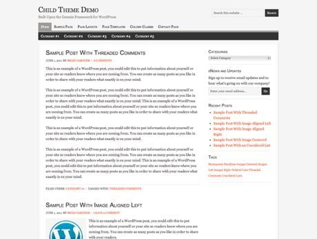 Georgia ~ Genesis WordPress sablon