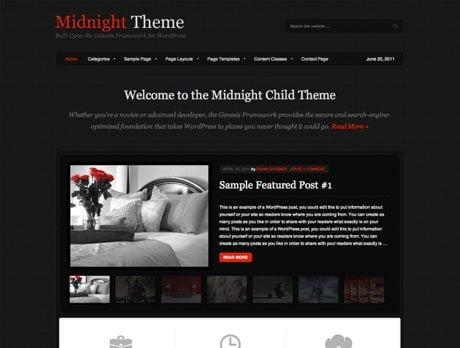 Midnight ~ Genesis WordPress sablon
