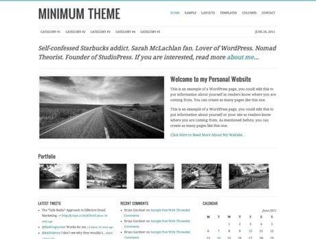Minimum ~ Genesis WordPress sablon