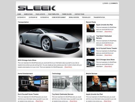 Sleek ~ Genesis WordPress sablon
