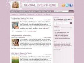 Social Eyes Pink ~ Genesis WordPress sablon
